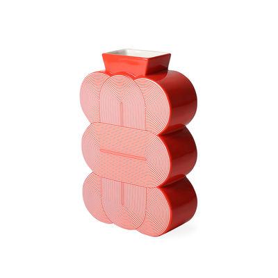 Déco - Vases - Vase Pompidou Medium / Porcelaine - H 23 cm - Jonathan Adler - Medium / Rouge - Porcelaine