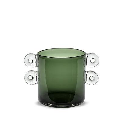 Déco - Vases - Vase Wind & Fire / Ø 17,5 x H 18 cm - Serax - Vert foncé - Verre