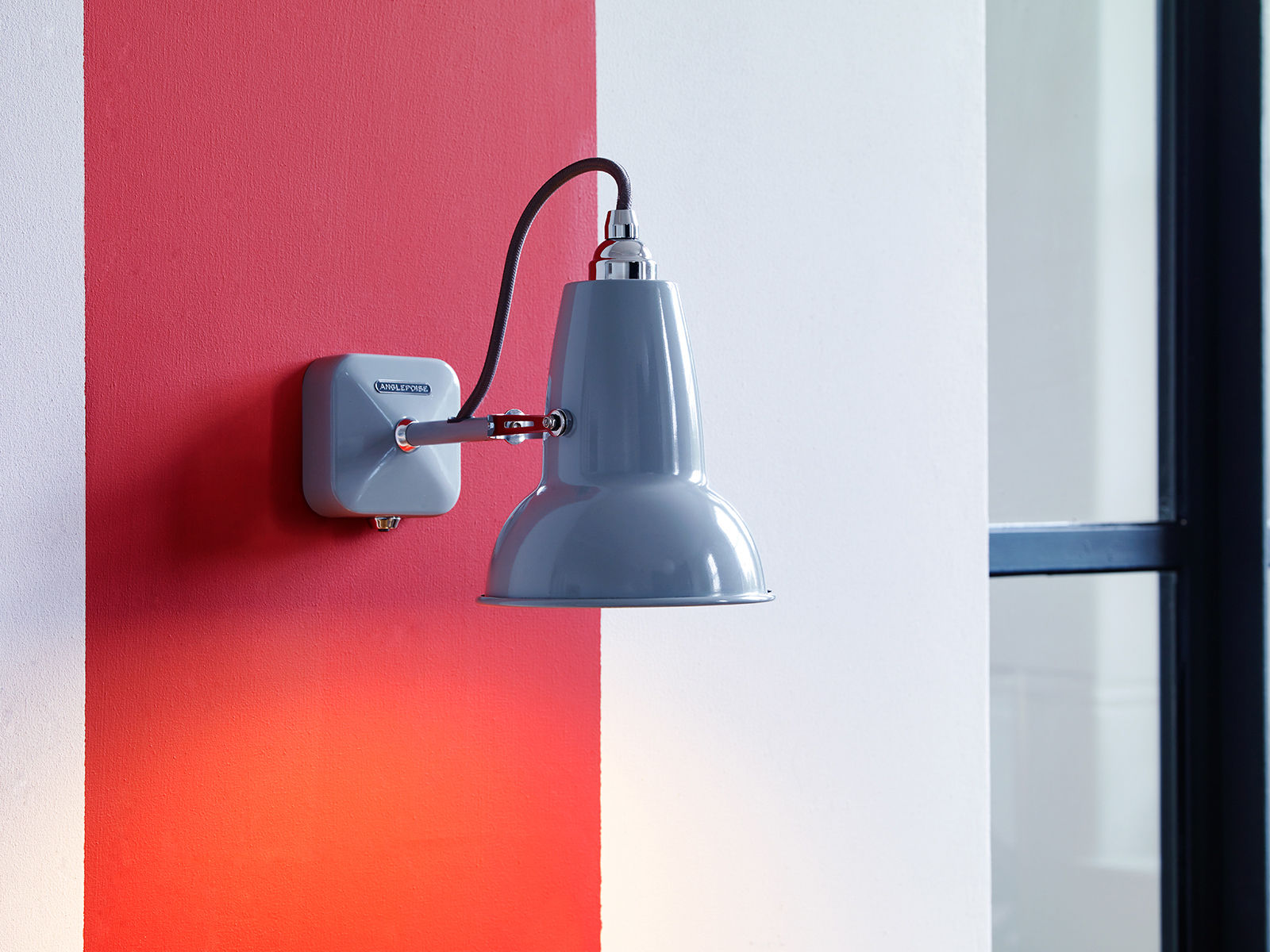 Original mini wall light jet black by anglepoise made in