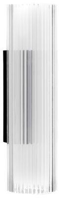 Lighting - Wall Lights - Rifly Wall light - H 30 cm by Kartell - Transparent - Polycarbonate plissé