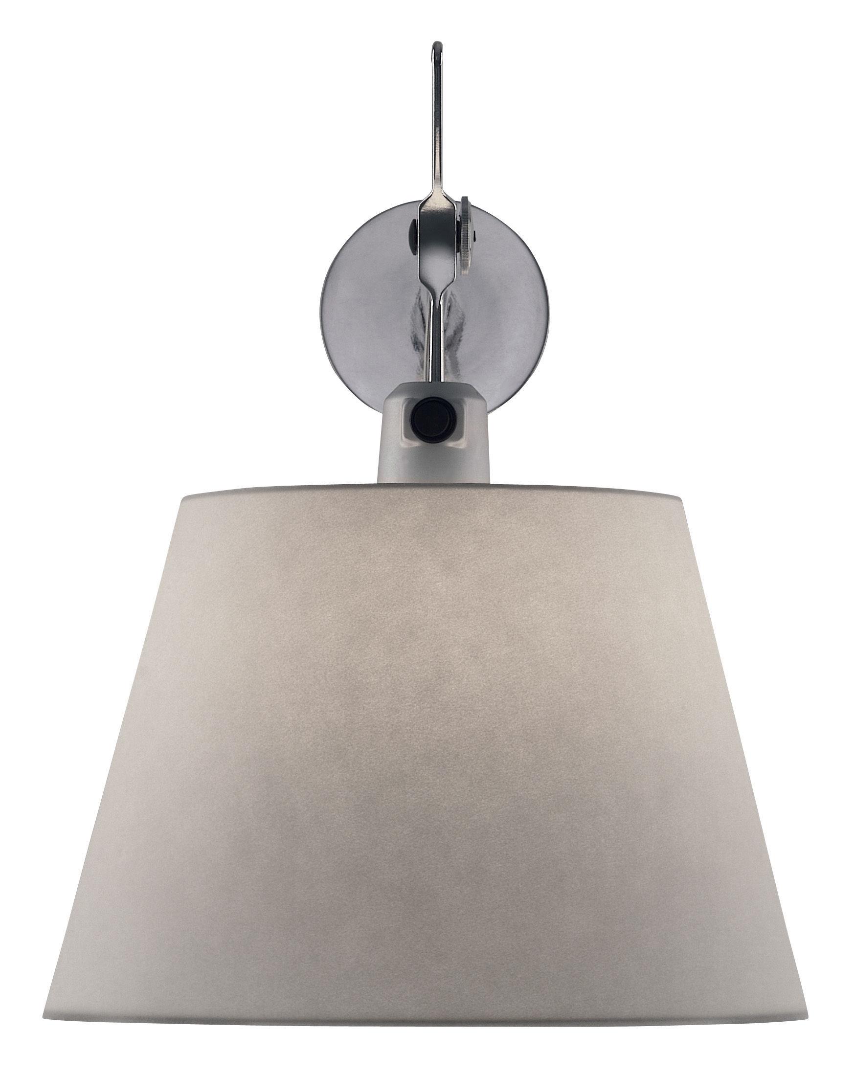 Leuchten - Wandleuchten - Tolomeo Wandleuchte Ø 24 cm - Artemide - Grauer Satin - Aluminium, Seide