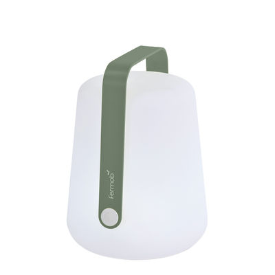 Lighting - Table Lamps - Balad Small LED Wireless lamp - / H 25 cm - USB recharging by Fermob - Cactus - Aluminium, Polythene