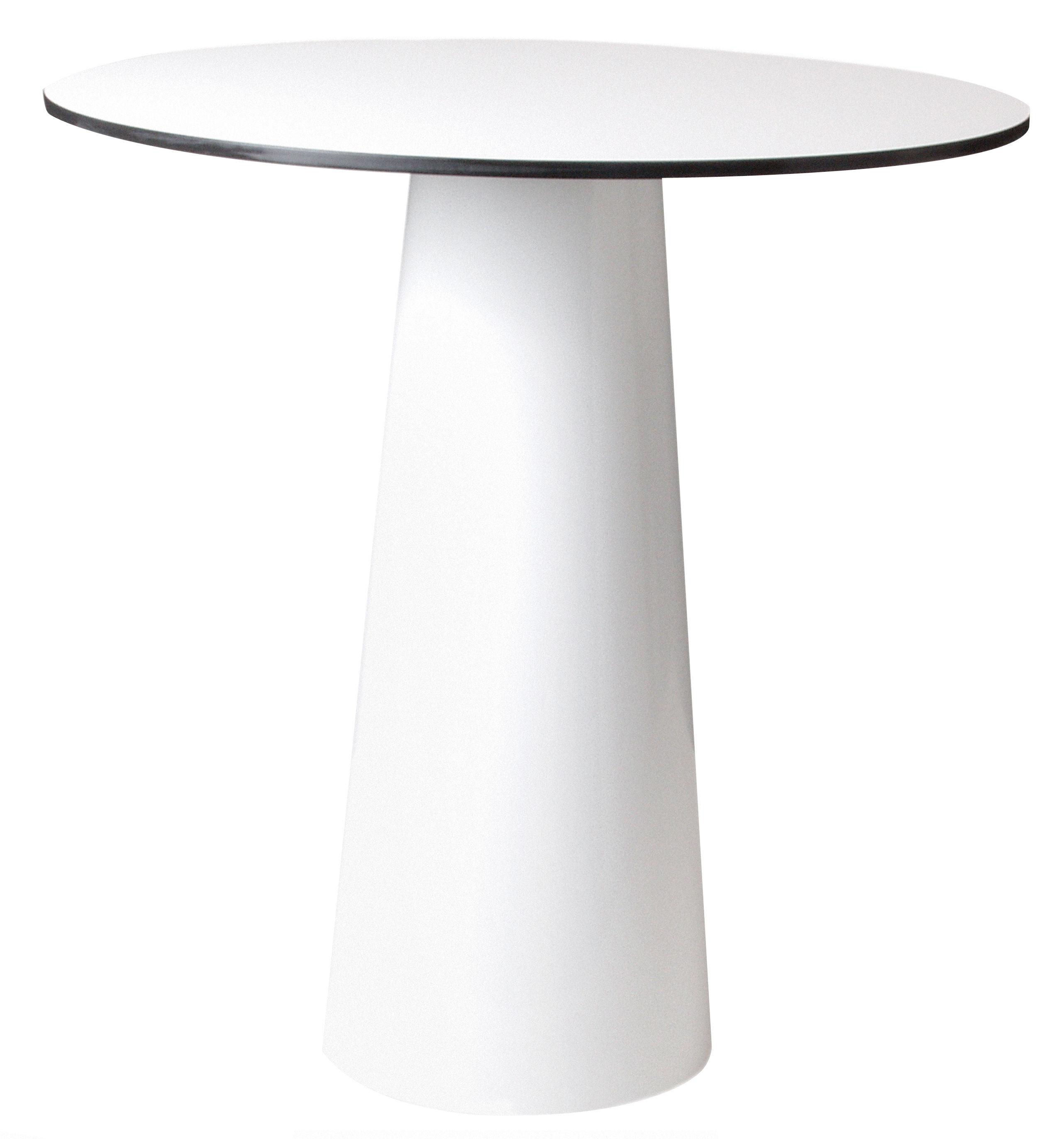 Outdoor - Tables de jardin - Accessoire table / Plateau Container  Ø 70 cm - Moooi - Plateau blanc - Ø 70 cm - HPL