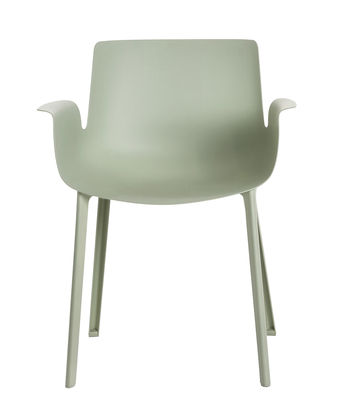 Furniture - Chairs - Piuma Armchair - Plastic by Kartell - Green sage - Reinforecd thermoplastic polymer