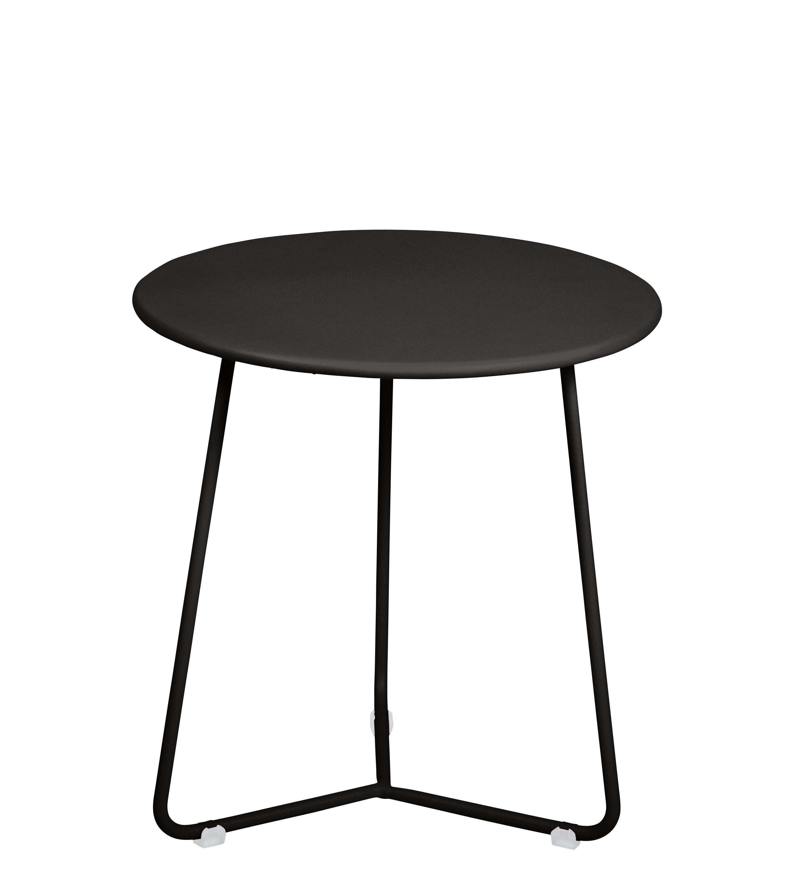 Möbel - Couchtische - Cocotte Beistelltisch / Hocker - Ø 34 cm x H 36 cm - Fermob - Lakritze - bemalter Stahl