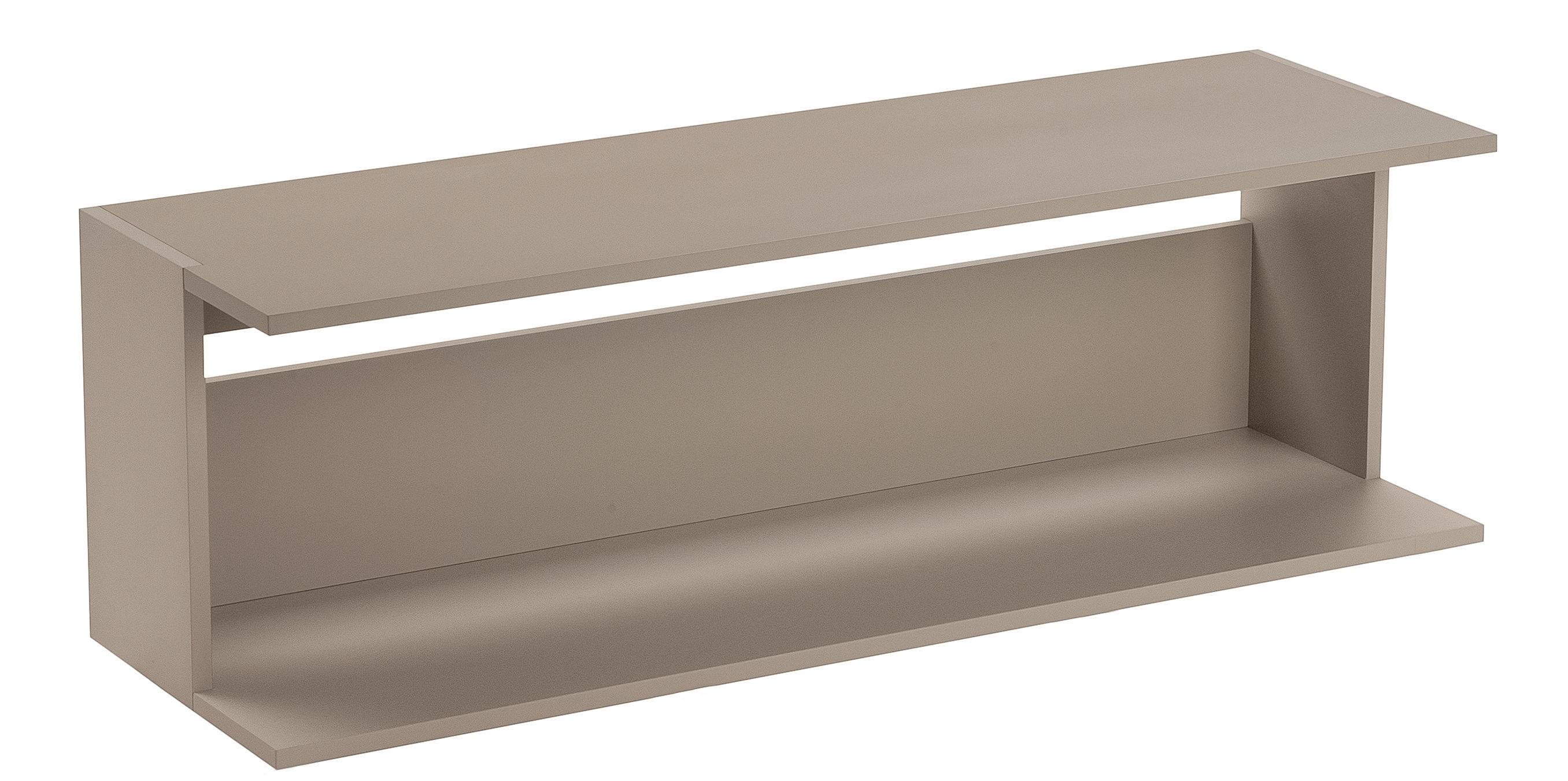 Mobilier - Tables basses - Console basse Scott / L 108 cm - Zanotta - Beige - MDF verni