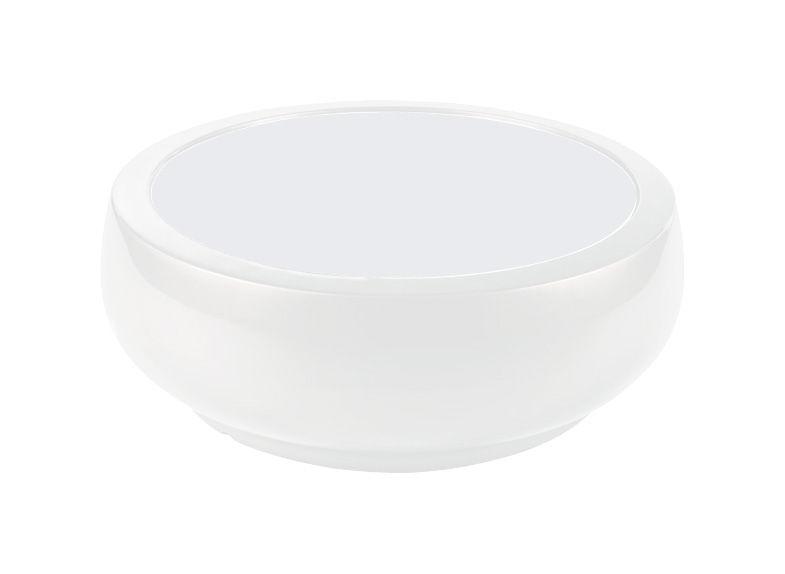 Möbel - Couchtische - Chubby Couchtisch - Slide - Weiß - Glas, Polyäthylen