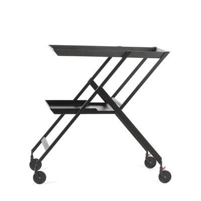 Furniture - Miscellaneous furniture - Plico Dresser - / Folding & multi-position - 1976 reissue by Alessi - Black - Polyurethane, Steel
