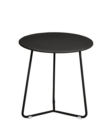 Furniture - Coffee Tables - Cocotte End table - / Stool - Ø 34 x H 36 cm by Fermob - Licorice - Painted steel