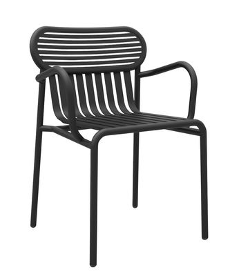 Chaise bridge Week-end / Aluminium - Petite Friture noir en métal