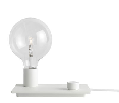Illuminazione - Lampade da tavolo - Lampada da tavolo Control / Metallo - Variatore di intensità - Muuto - Blanc - Ghisa di alluminio