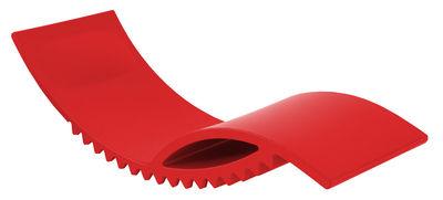 Outdoor - Liegen und Hängematten - Tic Liege - Slide - Rot - polyéthène recyclable