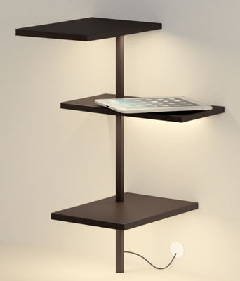 Furniture - Bookcases & Bookshelves - Suite Luminous shelf by Vibia - Brown - Lacquered metal, Polycarbonate
