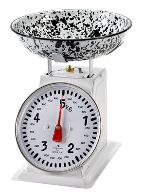 Kitchenware - Kitchen Equipment - Pasta Pasta Mechanical kitchen scales - / 5 Kg by Serax - Black & white - Enamelled steel