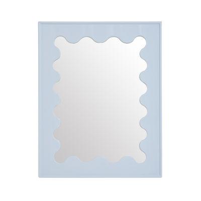 Déco - Miroirs - Miroir Ripple / Bois laqué - 66 x 81 cm - Jonathan Adler - Bleu - Bois laqué, Verre