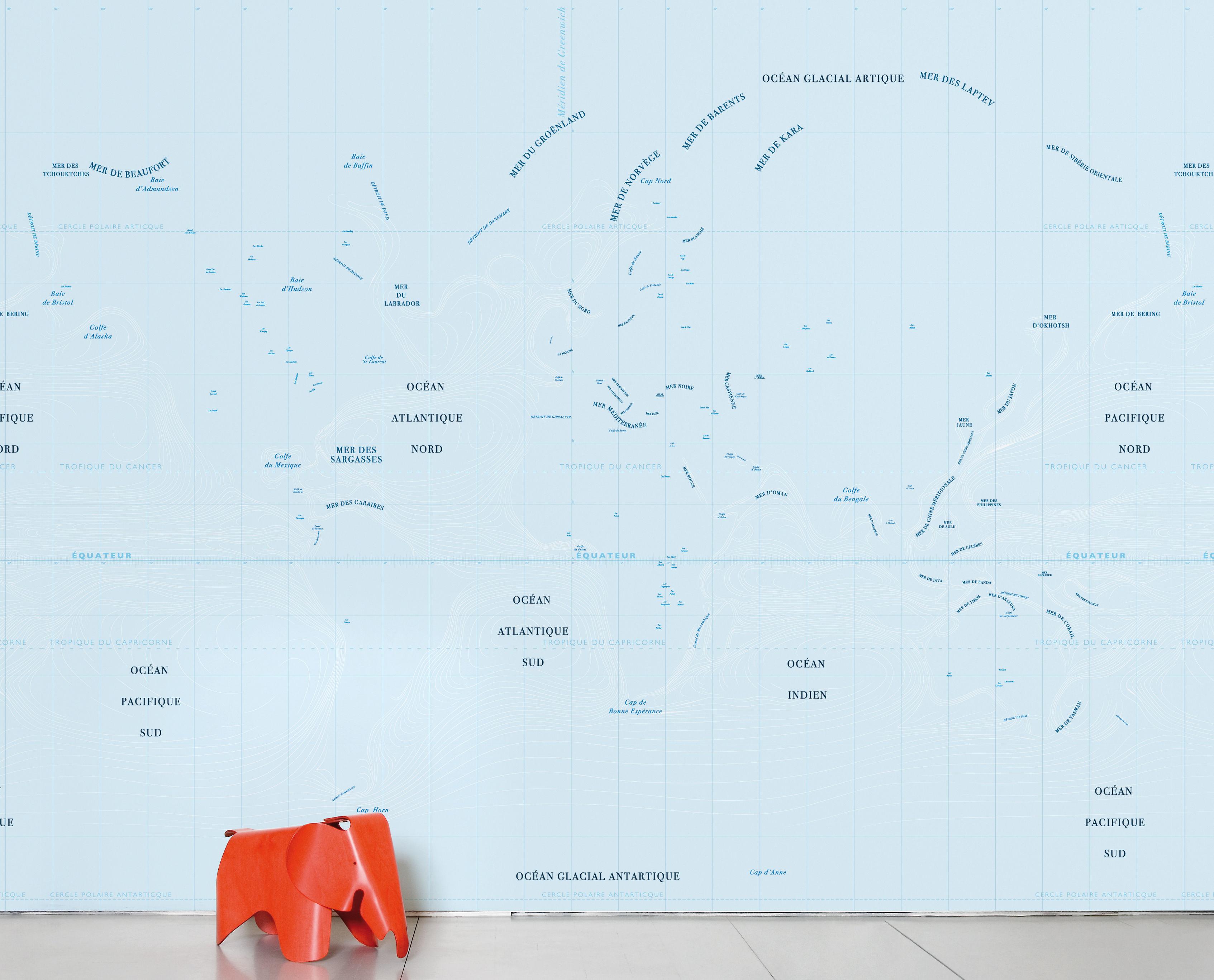Dekoration - Stickers und Tapeten - Ocean Panorama-Tapete 8 Bahnen - Domestic - Blau - imprägniertes Papier
