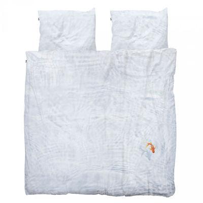 Parure de lit 2 personnes Bassie / 240 x 220 cm - Snurk bleu,orange en tissu