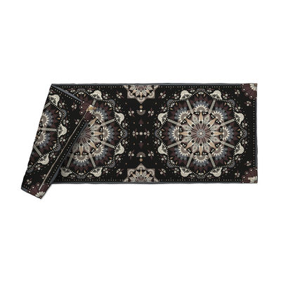 Decoration - Bedding & Bath Towels - Baba Souk Plaid - / Velvet - 85 x 200 cm by PÔDEVACHE - Pattern no. 2 / Black, beige & blue - Fabric, Polyester, Velvet