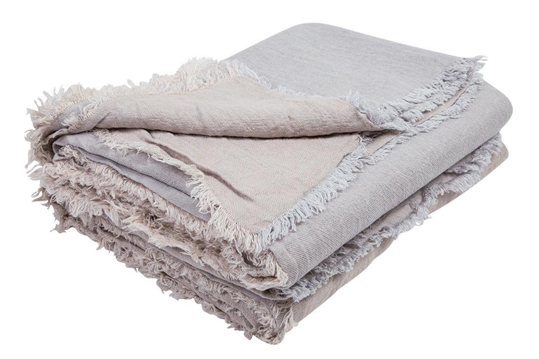 Déco - Textile - Plaid Vice Versa / 140 x 250 cm - Lin - Maison de Vacances - Gris perle - Lin Lavé Froissé