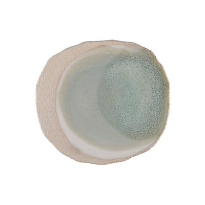 Tableware - Plates - Wabi Plate - / 27 x 30 cm - Handmade stoneware by Jars Céramistes - Green - Enamelled sandstone