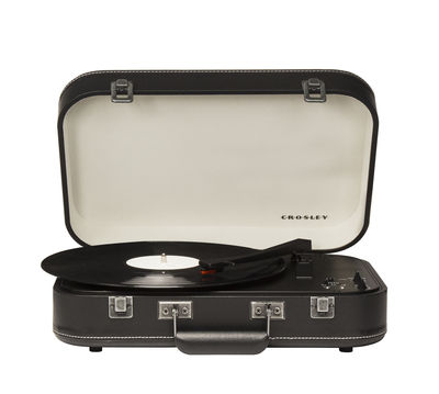 Accessoires - Enceintes audio & son - Platine vinyle Coupe / portable - Bluetooth - Crosley - Noir / Similicuir - Bois, Feutre, Matière plastique, Similicuir