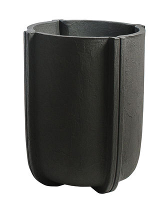 Pot de fleurs Cassero / Ø 60 x H 70 cm - Plastique effet béton - Serralunga gris/noir en matière plastique