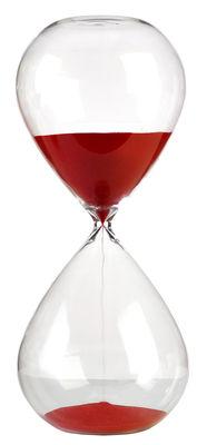 Sablier Ball Large / 2 heures - H 38 cm - Pols Potten rouge/transparent en verre