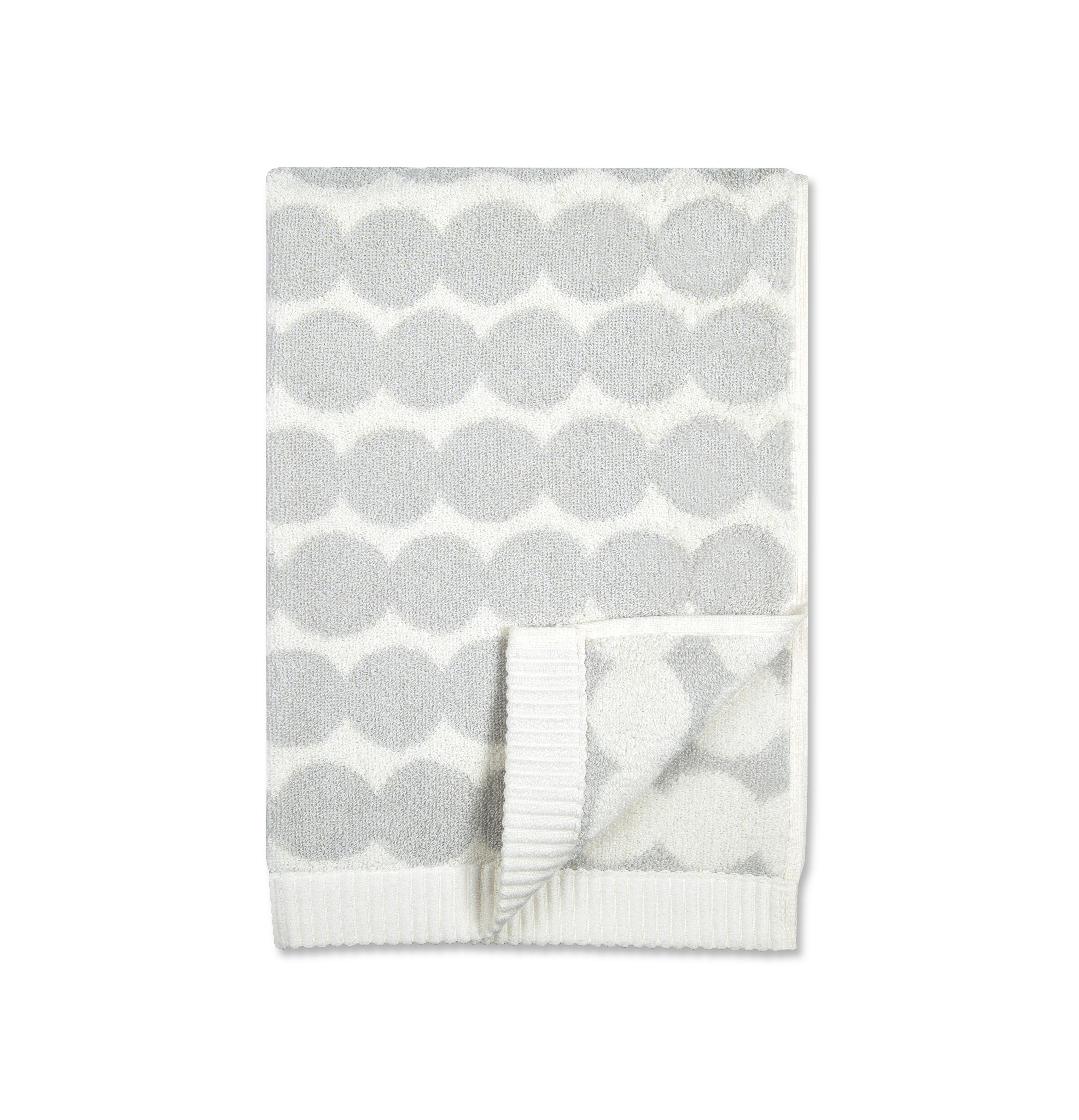 Déco - Textile - Serviette de toilette Räsymatto / 30 x 50 cm - Marimekko - Räsymatto / Blanc & gris clair - Coton éponge