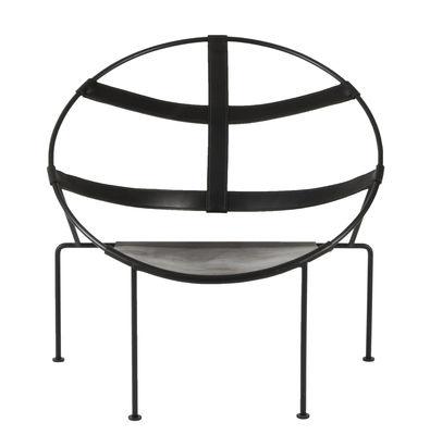FDC1 Sessel / Leder & Stahl - Neuausgabe 50' - Objekto - Schwarz