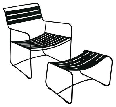 Set fauteuil & repose-pieds Surprising Lounger - Fermob réglisse en métal