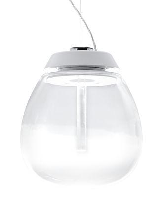 Illuminazione - Lampadari - Sospensione Empatia - LED / Ø 26 cm di Artemide - Ø 26 cm / Transparent & blanc - alluminio verniciato, Metacrilato, vetro soffiato