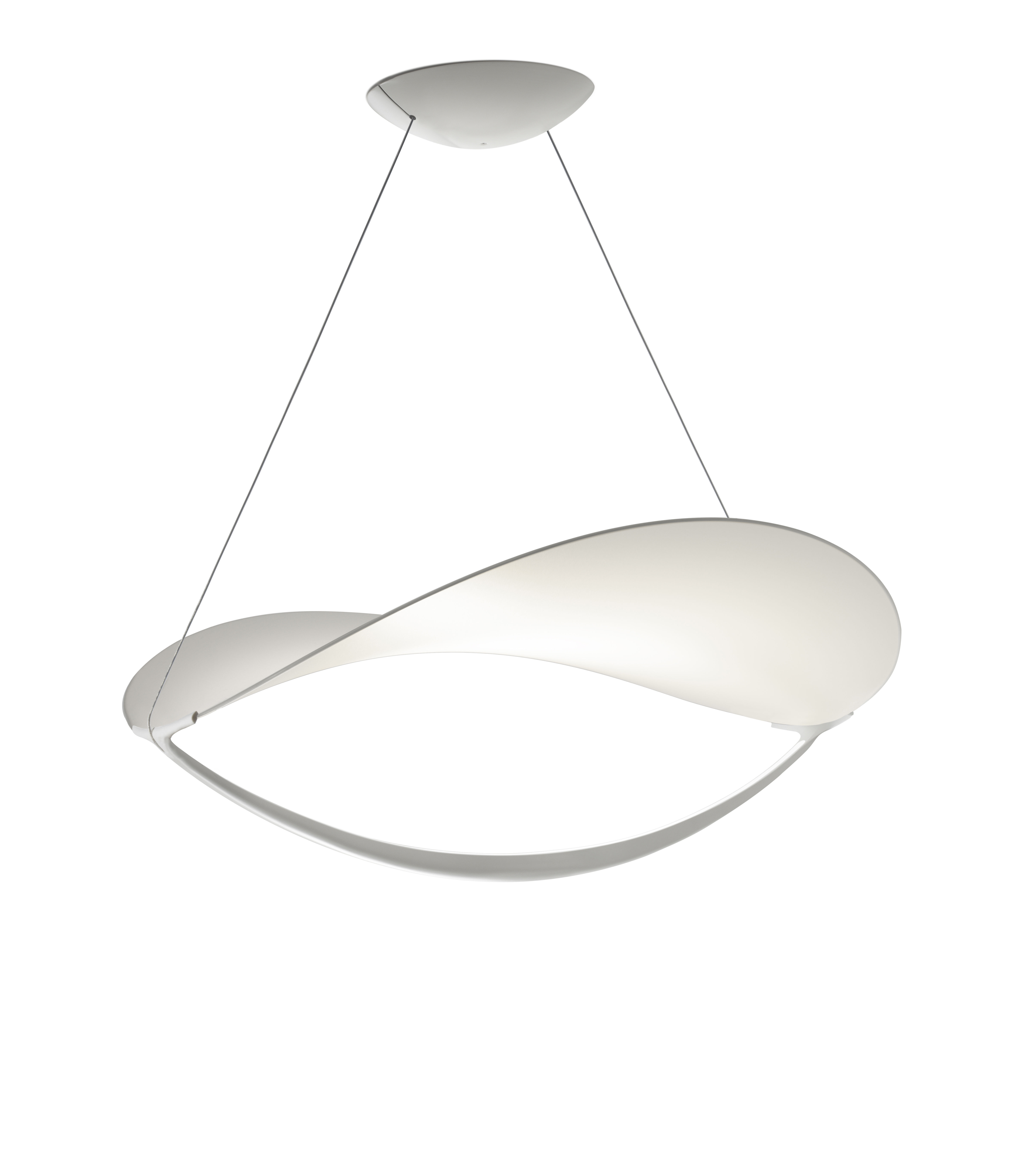 Illuminazione - Lampadari - Sospensione Plena LED - / Tessuto - Ø 70 cm di Foscarini - Bianco / Non dimmerabile - alluminio verniciato, Tela in PVC