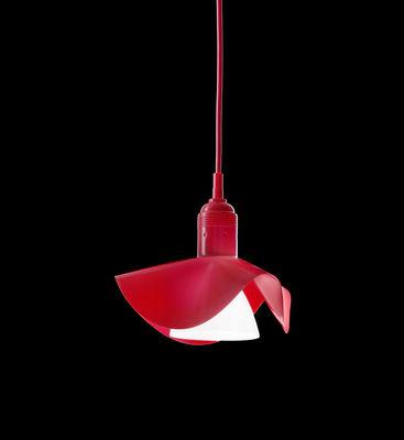 Illuminazione - Lampadari - Sospensione Silly-Kon di Ingo Maurer - Rosso - Silicone