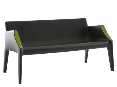 Outdoor - Sofas - Magic Hole Straight sofa - Indoor / outdoor by Kartell - Black / green - Polythene