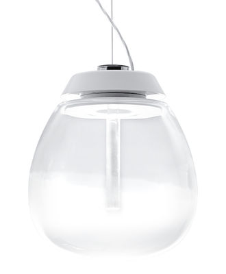 Suspension Empatia LED / Ø 26 cm - Artemide blanc,transparent en métal