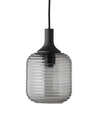 Suspension Honey Large / Ø 26 cm - Verre & bois - Frandsen noir,gris fumé en verre