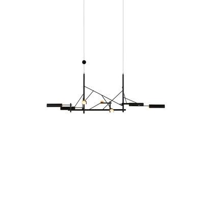Suspension Tinkering Small / LED - 83 x 41 cm / Métal - Moooi noir,laiton en métal