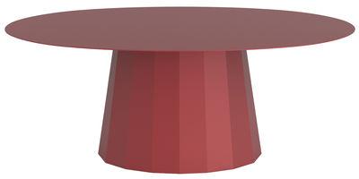 Table basse Ankara / L 109 x H 42 cm - Matière Grise rouge pourpre en métal