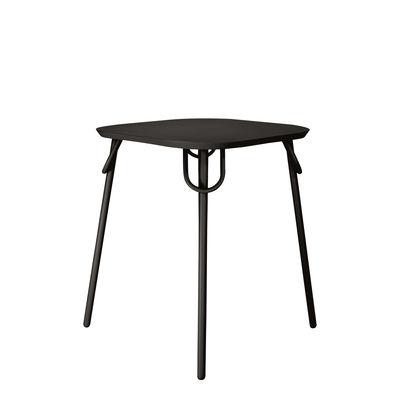 Table carrée Swim Duo / 63 x 63 cm - Métal - Bibelo noir en métal