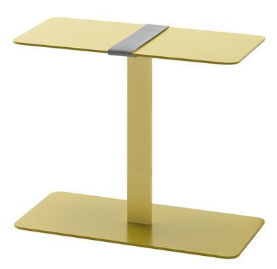 Table d'appoint Serra - Viccarbe jaune,gris en métal