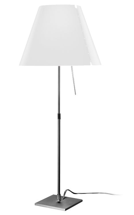 Lighting - Table Lamps - Costanza Table lamp by Luceplan - White - Painted aluminium, Polycarbonate