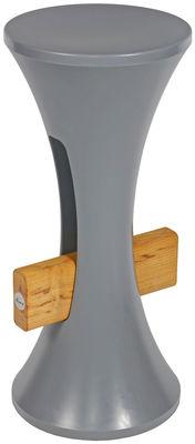 Mobilier - Tabourets de bar - Tabouret de bar Tam Bar / H 75 cm - Plastique & bois - Stamp Edition - Gris clair - Bois, Polypropylène