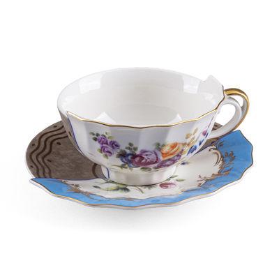 Tasse à thé Hybrid Kerma / Set tasse + soucoupe - Seletti multicolore en céramique