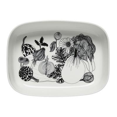 Tavola - Piatti da portata - Teglia Siirtolapuutarha - / 28 x 20,5 cm - Ceramica di Marimekko - Siirtolapuutarha / nero & bianco - Gres