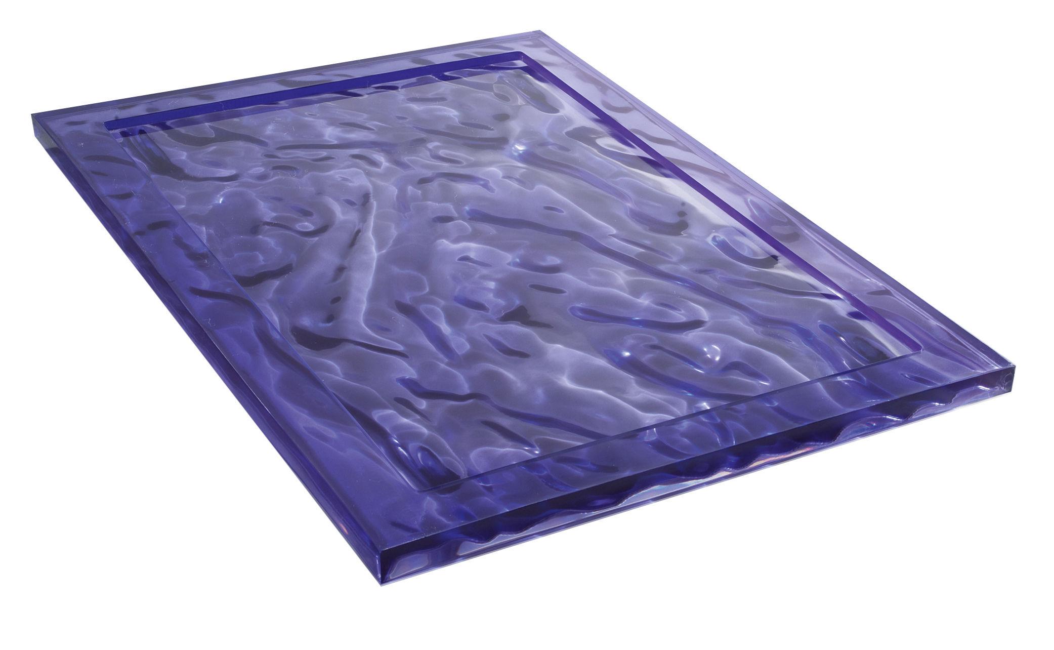 Tableware - Trays - Dune Tray - 46 x 32 cm by Kartell - Fuchsia - Technopolymer