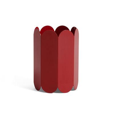 Dekoration - Vasen - Arcs Vase / Metall - Ø 17 x H 25 cm - Hay - Rot - rostfreier Stahl