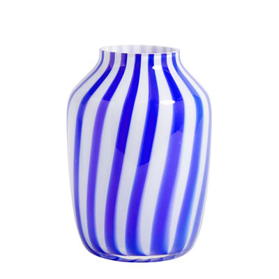 Decoration - Vases - Juice Vase - / Height - Ø 20 x H 28 cm by Hay - Blue - Glass