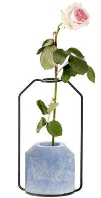Vase Weight D / L 13 x H 22 cm - Spécimen Editions bleu en métal