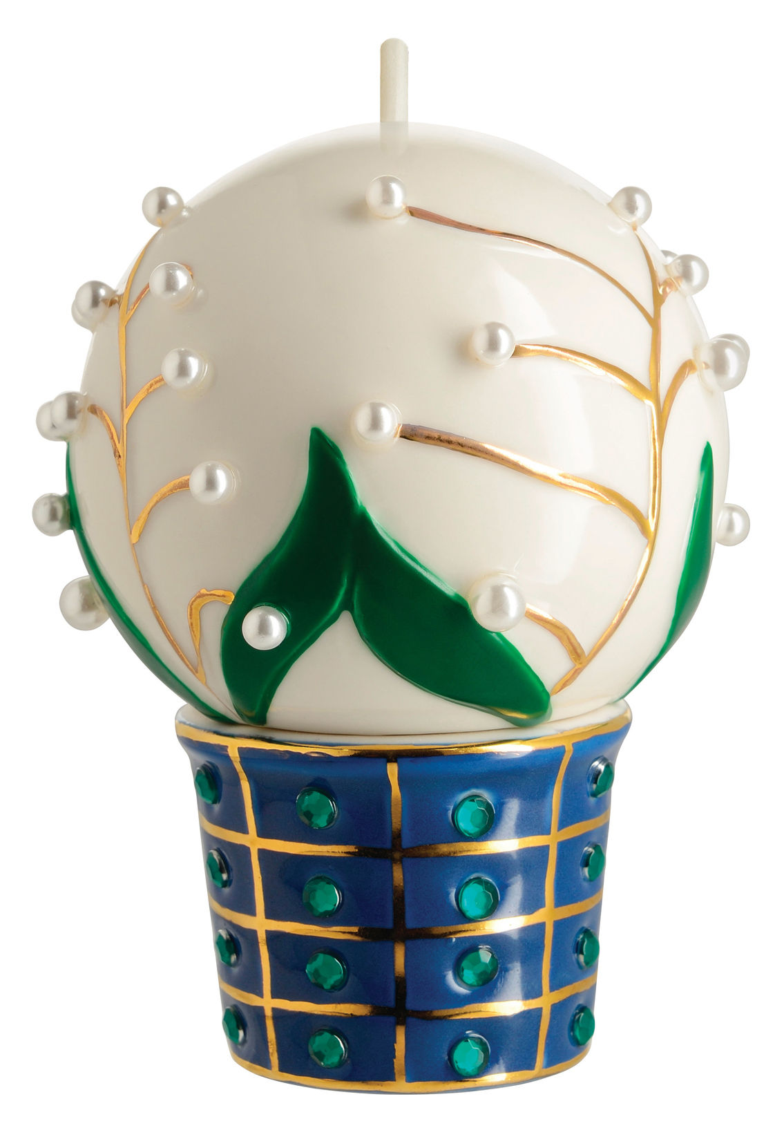 Decoration - Home Accessories - Fleurs de Jorì Bauble - / Lily of the valley - Hand-painted porcelain by Alessi - Lily of the valley - China