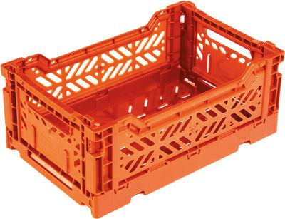 Accessoires - Accessoires bureau - Casier de rangement Mini Box / pliable L 26,5 cm - Surplus Systems - Pop Corn - Orange - Polypropylène